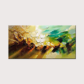 cheap Abstract Paintings-Oil Painting Hand Painted Abstract Landscape Modern Rolled Canvas Rolled Without Frame