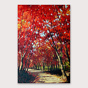 cheap Landscape Paintings-Oil Painting Hand Painted - Abstract Landscape Modern Stretched Canvas