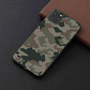cheap iPhone Cases-Case For Apple iPhone 11 / 11 Pro / 11 Pro Max Frosted / Pattern Back Cover Camouflage TPU for iPhone 6 / 6S Plus / 7 / 7 Plus / 8 / 8 Plus / X / XS / XR / Xs Max