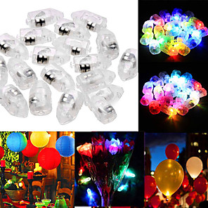 cheap LED Smart Home-50pcs Mini Glowing Balloon Light Decoration Light Staycation LED Night Light RGB White Red Other Battery Powered Creative Lovely Wedding Christmas New Year