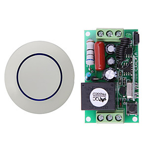 cheap Smart Switch-AC220V 1CH Relay Switch /10A Relay With NO NC COM/Learning Code Receiver For Light/LED Power ON OFF / 433mhz
