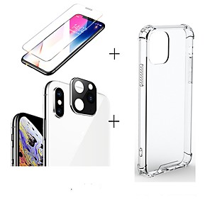 cheap iPhone Screen Protectors-3 in 1/set For iphone 11/11pro/11 pro max  Screen Protector  transparent case silicone  Camera Lens glass film