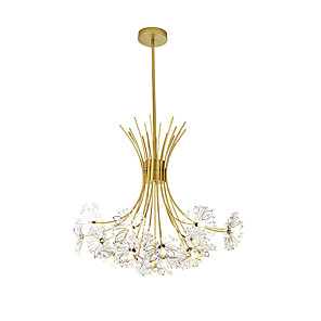 cheap Island Lights-19 Bulbs 77 cm Creative Chandelier Metal Industrial Novelty Painted Finishes Country Nordic Style 110-120V 220-240V