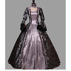 cheap Historical & Vintage Costumes-Princess Rococo Victorian Dress Party Costume Costume Women's Cotton Costume Light Purple Vintage Cosplay Masquerade Party & Evening Long Sleeve Floor Length Long Length Plus Size