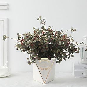 cheap Artificial Plants-Simulation Plant Sea Bream Leaves Decorative Simulation Green Plant
