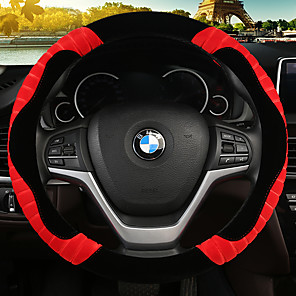 cheap Steering Wheel Covers-new plush put set cute cartoon lady Korean winter warm car steering wheel set