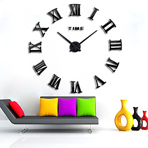 "cheap Wall Clocks-Wall Clock,Modern Contemporary DIY Acrylic Round Indoor 80*150cm(31""*59"")"