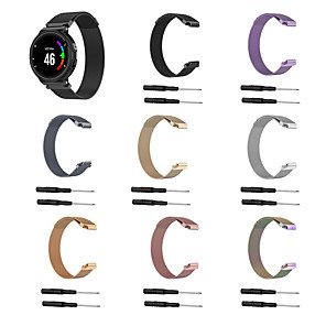 cheap Smartwatch Bands-Watch Band For Forerunner 220 / 235 / 235 / 735 Garmin Sport Band / Milanese Loop / DIY Tools Stainless Steel Wrist Strap