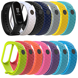 cheap Smartwatch Bands-New Diamond Pattern Strap For Xiaomi MI Band 4 Smart Bracelet Sports Wristband For Xiaomi MI Band 4/3 Smart Accessories