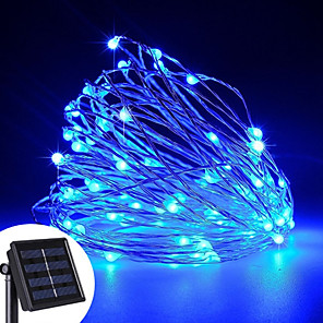 cheap LED String Lights-YWXLight® LED Solar Powered String Lights 12Watts 100 LED Copper Wire Lights Outdoor Waterproof Fairy Lamp For Wedding Christmas Decoration 1PC