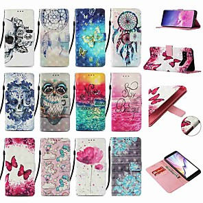cheap Samsung Case-Case For Samsung Galaxy S20 / S20 Plus / S20 Ultra Wallet / Card Holder / with Stand Butterfly PU Leather / TPU for A10s / A20s / A50(2019) / A70(2019) / A90(2019) / Note 10 Pro/ A71 / A51