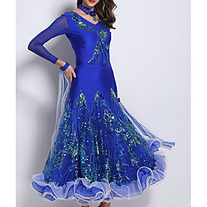 cheap Latin Dancewear-Ballroom Dance Top Pattern / Print Women's Performance Ice Silk