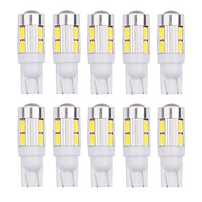 cheap Side Marker Lights-4Pcs T10 LED W5W 168 194 10SMD Error Free T10 10LED Wedge Light Side Bulbs For Car Tail light Side Parking Dome Door Map light 12v