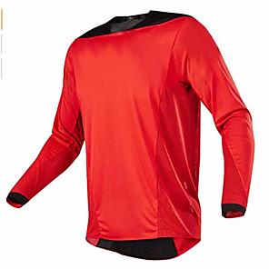 cheap Cycling Jerseys-21Grams Men's Long Sleeve Cycling Jersey Dirt Bike Jersey Winter Black / Red Black / Orange Black / White Bike Jersey Top Mountain Bike MTB Road Bike Cycling UV Resistant Breathable Quick Dry Sports