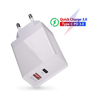 cheap Wall Chargers-36W Quick Charge 3.0 USB Charger QC3.0 QC Type C PD  Fast Charging Wall Mobile Phone Charger For Samsung Huawei Xiaomi iPhone 11 Pro Max Samsung Huawei Xiaomi