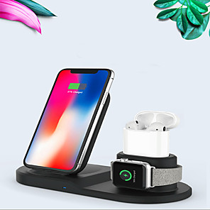 cheap Wireless Chargers-Multi-function 3 in 1 Wireless Charger for AirPods/iPhone 11/11 pro/XR/XS/ 8/8 Plus and Apple Watch Series