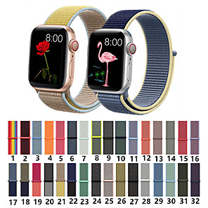 cheap Smartwatch Bands-Nylon Woven Sport Loop Bracelet Watch Band Strap For Apple iWatch series 5 4 3 2 1