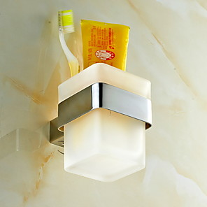 cheap Bathroom Gadgets-Toothbrush Holder New Design / Cool Modern Stainless Steel 1pc Wall Mounted