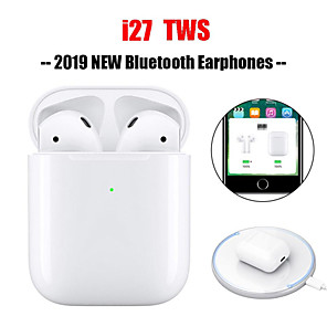 cheap Wired Earbuds-I27 TWS Blutooth Mini Wireless Headphones V5.0 Binaural Earbuds with Charging Base Sports Headphones
