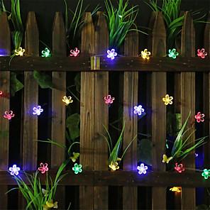 cheap LED String Lights-20m Romantic Sakura String Lights 160 LEDs  Warm White White Blue Halloween Christmas Party Fantasy Fairy Tale World Decorative Wedding  Garden Courtyard Decoration Lamp AA Batteries Powered 1 set