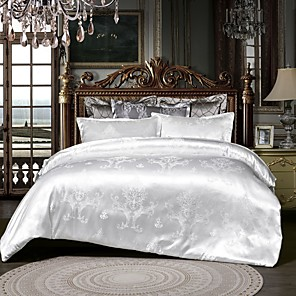 cheap Duvet Cover Sets-Duvet Cover Sets luxurious Jacquard 3pcs Bedding Set With Pillowcase Bed Linen Sheet Single Double Queen King Size
