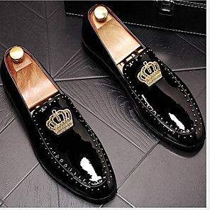 cheap Men's Slip-ons & Loafers-Men's Comfort Shoes PU Winter Loafers & Slip-Ons Black
