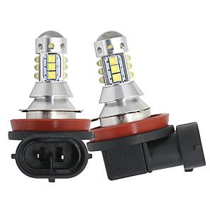 cheap Car Headlights-2pcs/lot Car H8 H11 led 16SMD LED with cree chips Fog Lamp 80W 16LED Tail Lights DRL fog Light Bulb 12-24v