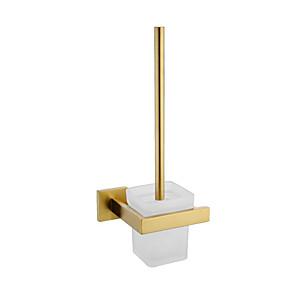 cheap Bathroom Shelves-Toilet Brush Holder Adorable Contemporary Brass 1pc - Bathroom Wall Mounted