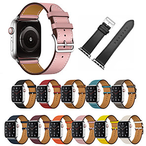 cheap Smartwatch Bands-Genuine Leather Apple Watch Band Strap for iWatch Series 5 4 3 2 1 38/42/40/44mm