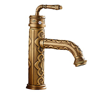 cheap Projectors-Bathroom Sink Faucet - Widespread Electroplated Free Standing Single Handle One HoleBath Taps