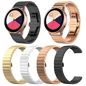 cheap Smartwatch Bands-Watch Band for Samsung Galaxy Watch Active 2 Samsung Galaxy Jewelry Design Stainless Steel Wrist Strap