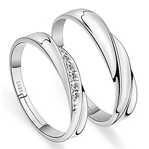 cheap Rings-Couple's Ring 2pcs Silver Alloy Daily Jewelry Cute