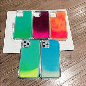 cheap iPhone Cases-Case For Apple iPhone 11 / iPhone 11 Pro / iPhone 11 Pro Max Glow in the Dark / Flowing Liquid / Glitter Shine Back Cover Solid Colored TPU