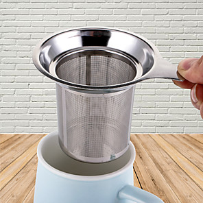 cheap Kitchen Utensils & Gadgets-Reusable Stainless Steel Mesh Tea Infuser Tea Strainer Teapot Tea Leaf Spice Filter Drinkware