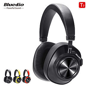 cheap On-ear & Over-ear Headphones-Bluedio T7 Bluetooth Headphones Active Noise Cancelling Wireless Headset for Phones and Music with Face Recognition