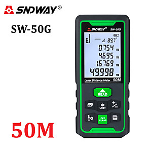 cheap Level Measuring Instruments-SNDWAY Laser Distance Meter Green Rangefinder 100m 70m 50m Range Finder Trena Tape Measure Electronic Level Ruler Roulette Tool