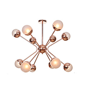 cheap Globe Design-12 Bulbs EMPEROR LANG 90 cm New Design Chandelier Metal Glass Industrial Electroplated Country / Nordic Style 110-120V / 220-240V