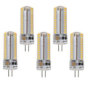 cheap LED Bi-pin Lights-5pcs G9/G4 104 LEDs Light Bulbs 5W 50W Halogen Equivalent 450LM 104LEDS Non-dimmable G4/G9 Bulbs for Home Lighting AC220V/AC110V