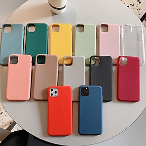 cheap iPhone Cases-TPU Case For Apple iPhone 11 / iPhone 11 Pro / iPhone 11 Pro Max Cheap Simple Case Shockproof Back Cover Solid Colored for iPhone SE2020 iPhone XR XS MAX Protective Case Cover for iPhone 7/8/SE