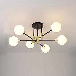 cheap Dimmable Ceiling Lights-EMPEROR LANG 6-Light 65 cm Flush Mount Lights Metal Glass Sputnik Electroplated Painted Finishes Modern Nordic Style 110-120V 220-240V G9
