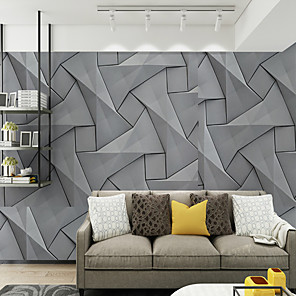cheap Wallpaper-Wallpaper / Mural / Wall Cloth Canvas Wall Covering - Adhesive required Geometric / Floral / Botanical / Art Deco