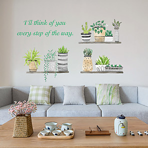 cheap Wall Stickers-Ins fresh plant potted bedroom cabinet living room wall decoration wall stickers SK6057