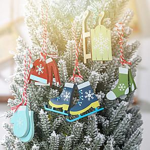 cheap Wedding Gifts-Christmas Tree Decoration Wood 5 Christmas