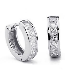 povoljno Religijski nakit-jednostavne žene muškarci 925 srebra pečat naušnice naušnice švicarska blok cz cirkon kristalni nakit na veliko brincos plata
