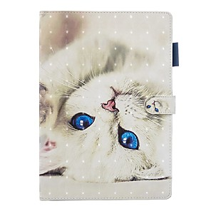 cheap iPad case-Case For Apple iPad Air / iPad 4/3/2 / iPad (2018) with Stand / Flip / Pattern Full Body Cases Cat PU Leather