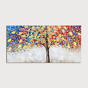cheap Abstract Paintings-Oil Painting Hand Painted - Landscape Modern Rolled Canvas