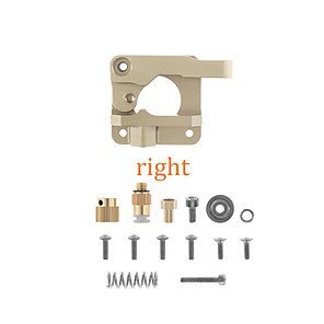 cheap 3D Printer Parts & Accessories-3D printer accessories champagne right hand extruder CR10 remote all metal feeding extruder 1.75mm consumables