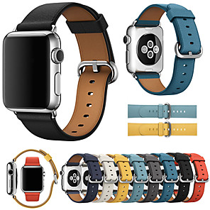 cheap Smartwatch Bands-Luxury Leather Watch Band For Apple Watch Series 5/4/3/2/1 Replaceable Bracelet Wrist Strap Wristband
