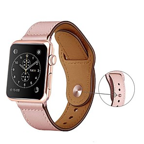 cheap Smartwatch Bands-Genuine Leather Strap For Apple Watch band 5 4 3 2 1 iwatch 42mm 38mm 44mm 40mm pulseira correa Bracelet smart watch Accessories loop