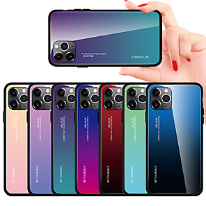 cheap iPhone Cases-Case For Apple iPhone 11 / iPhone 11 Pro / iPhone 11 Pro Max Mirror Back Cover Color Gradient TPU